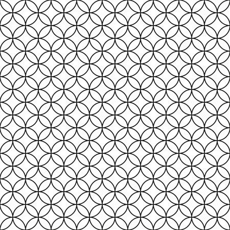 Bekabelde hek Zwarte Ring kooi op witte achtergrond Vector illustratie Stock Illustratie