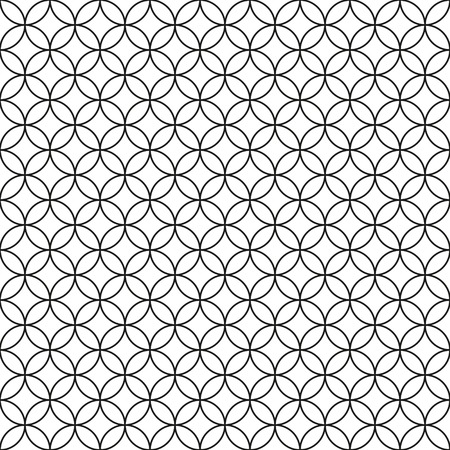 Wired Fence  Black Ring Cage on White Background  Vector illustration