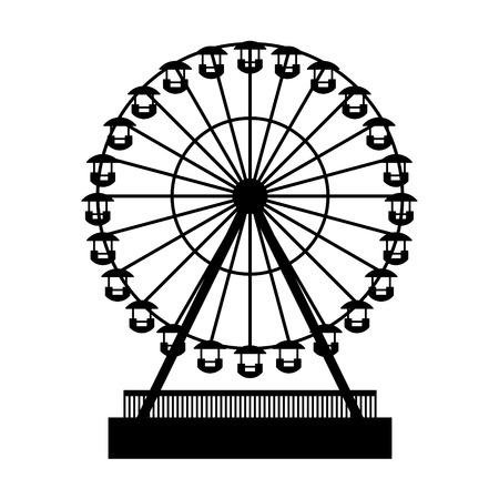 シルエット公園 Atraktsion 観覧車  イラスト・ベクター素材