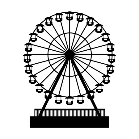 game wheel: Silhouette Park Atraktsion Ferris Wheel