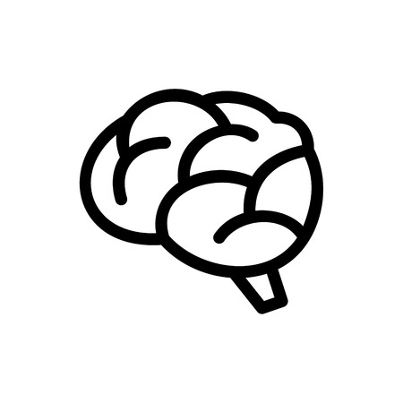 Brain Icon on White Background. Vector Illustration Vector