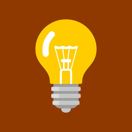 Light Bulb Shape as Inspiration Concept. Vector Illustration Flat Style.