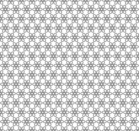 grating: Metal Seamless Lattice with Flower Ornament.  Illustration