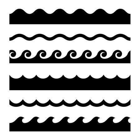 olas de mar: Ondulado transparente Conjunto.