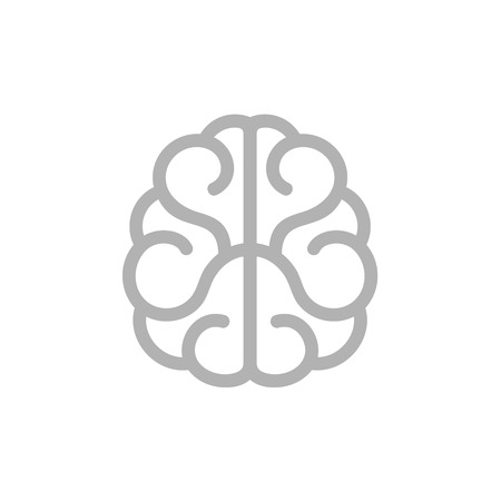 Brain Icon. Vector Illustration on White Background Vector