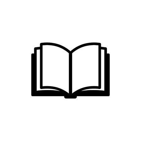 Book Icon Isolated on White Background.