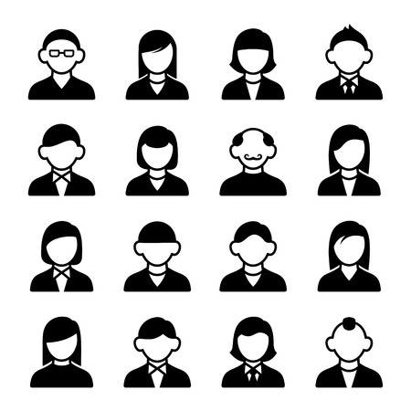 Family Icons and People Icons on White Background Vector