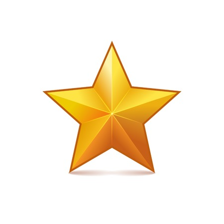 Rating Star on White Background Vector
