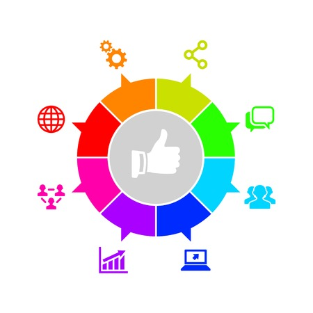 Seo and Internet Marketing Icons Set. Vector Vector