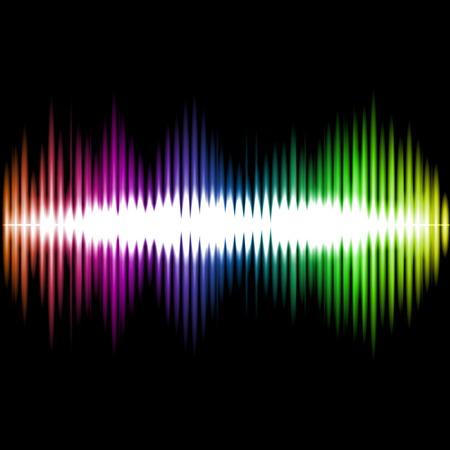 Ecualizador de sonido Wave Resumen Antecedentes. Ilustración vectorial Ilustración de vector