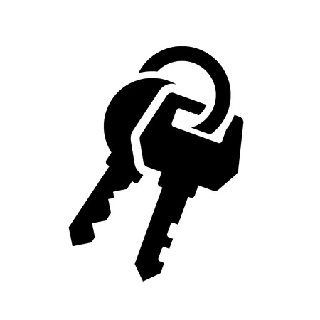 protect home: Keys Icon on White Background. Vector Illustration
