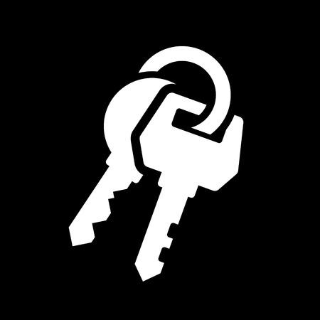 Keys Icon on Black Background Illustration Vector