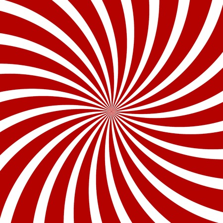 Red Hypnosis Spiral Pattern. Optical illusion. Vector illustration Illustration