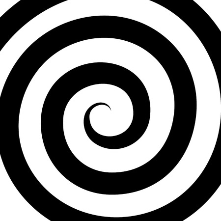 Hypnosis Spiral Pattern. Optical illusion. Vector illustration Vector