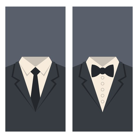 Business Card with Suits and Ties Design. Vector illustration Vector