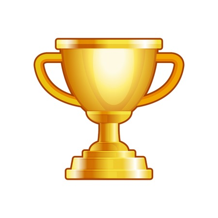 Winner Gold Cup on White Background. Vector illustration