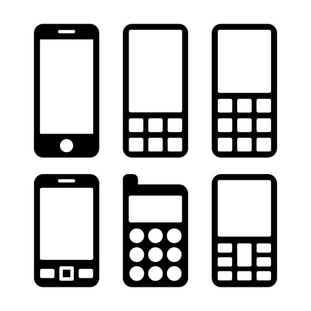 mobil phone: Mobile Phones and Smartphones Icons Set. Vector illustration Illustration