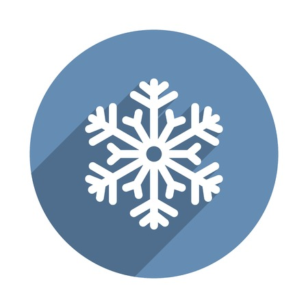 Snowflake Icon in Flat Design Style. Vector illustration