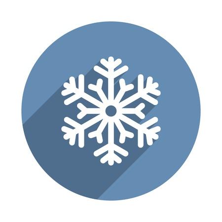 snowflake icon: Snowflake Icon in Flat Design Style. Vector illustration