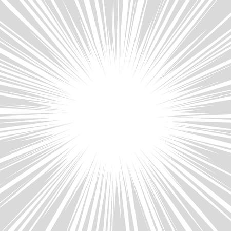 コミックの放射状の速度ライン グラフィック効果。ベクトル イラスト