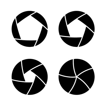 abstract aperture: Camera Shutter with Different Open Aperture. Vector