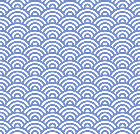 Wave Seamless Blue Pattern. Simple Vector Illustration Vector