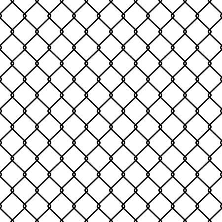 Steel Wire Mesh Seamless Background. Illustrazione vettoriale