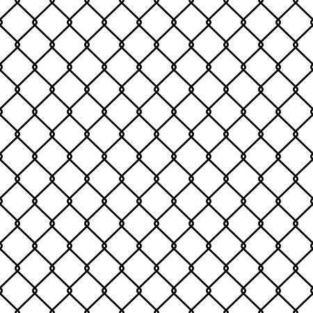 Steel Wire Mesh Seamless Background. Illustrazione vettoriale