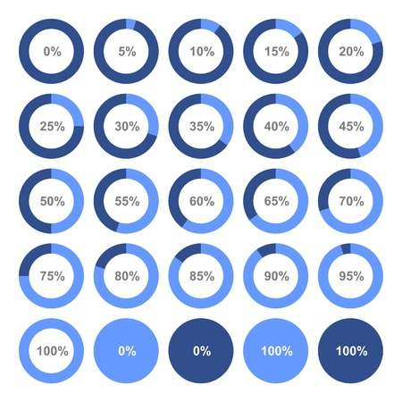 Circle Diagram Pie Charts Infographic Elements. Vector illustration