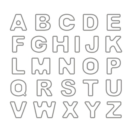 bold: Outline  Bold Vintage Retro Font. Vector Illustration