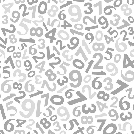 Abstract Background with Numbers. Vector Monochrome Illustration