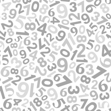 signos matematicos: Fondo abstracto con números. Vector blanco y negro Ilustración