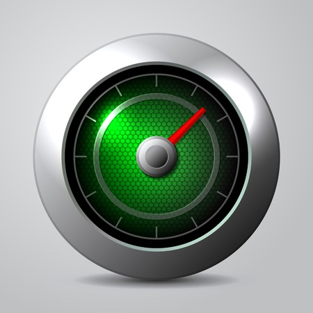 mph: Speedometer in the car isolate. Vector illustration Illustration