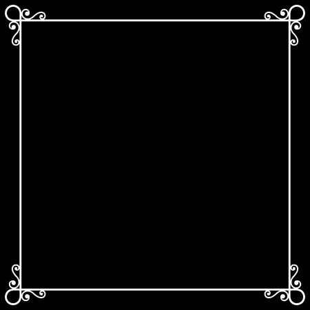 Vintage Frame on Chalkboard Retro Background for Silent Film. Vector
