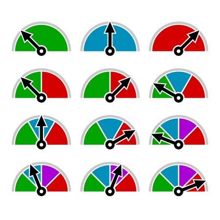 Color Indicator Diagram Set Template Design. Vector