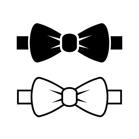 Bow Tie Icons Set Vettoriali