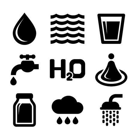 kunststoff rohr: Wasser-Ikonen eingestellt