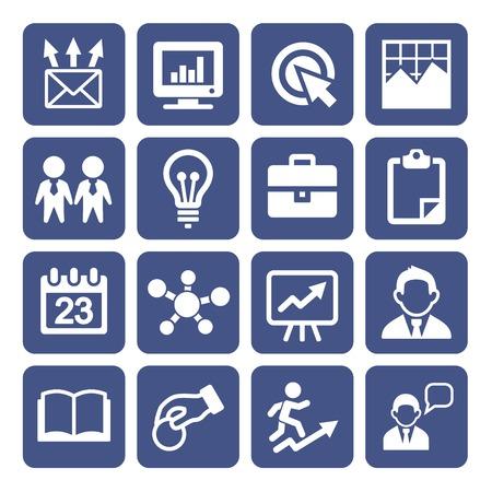 bell curve: Marketing Icons Set Illustration