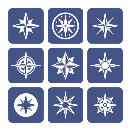 compass rose: Compass Icons Set