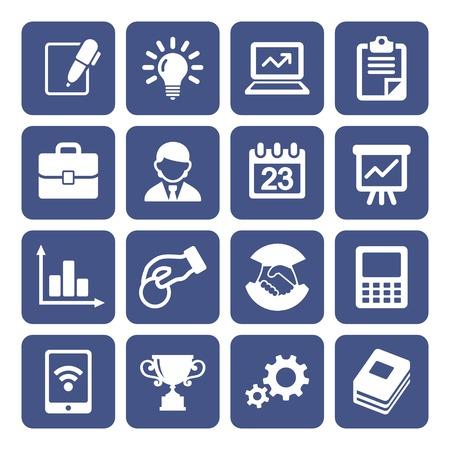 gestion empresarial: Iconos de negocios establecidos