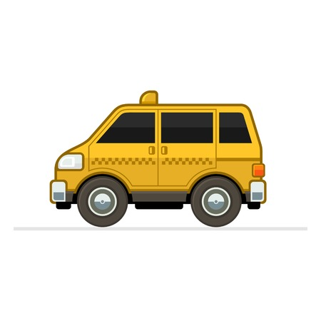 car side view: Taxi Car Illustration