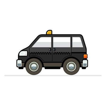 side profile: Taxi Car Illustration