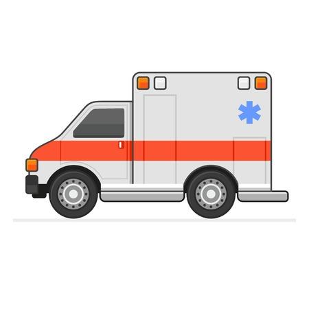 urgent care: Ambulance Illustration