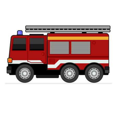 brandweer cartoon: Brandweerwagen Stock Illustratie