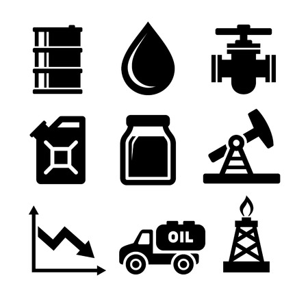 fossil fuel: Oil Icons Set