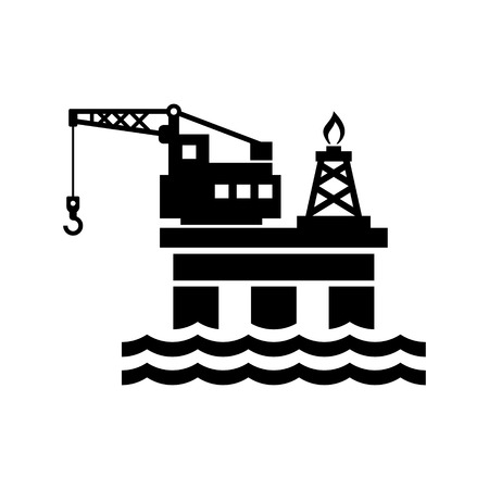 unstable: Oil Platform for  Icon. Vector