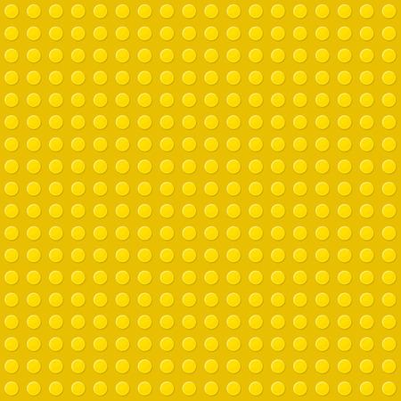 yellow lego block: Yellow Seamless Background of Plastic Construction Block. Vector