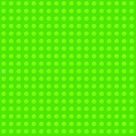 Green Seamless Background of Plastic Construction Block. Vector