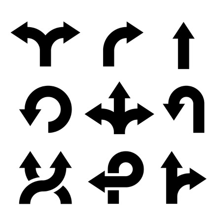 move forward: Arrows Icons Set.