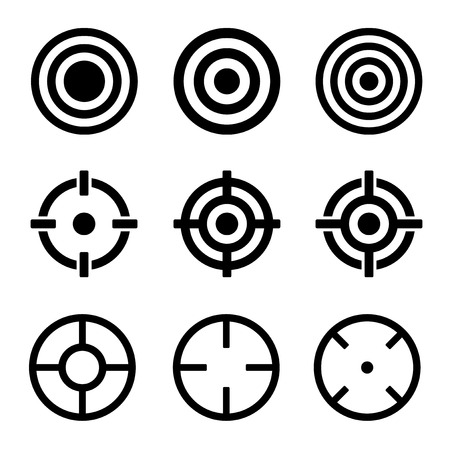 target: Target Icons Set on White Background. Vector